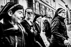 Nuns on the run.... (Sean Bodin images) Tags: streetphotography streetlife seanbodin streetportrait copenhagen citylife candid city citypeople nørreport people photojournalism photography reportage voreskbh visitdenmark visitcopenhagen nuns