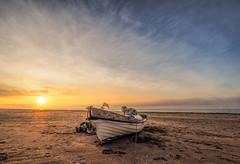 Catch the sunrise (grbush) Tags: sun sunrise dawn daybreak boat fishing fishingboat beach summer goldenhour sea seascape seaside travel spain islantilla sand olympusm918mm olympus em10mark11 m43