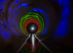 Starburst in the Pipe of Light (nocturnal.visions) Tags: lightpainting rcp drains starburst low light long exposure photography colours reflections night dark ue nocturnalvisions sydney stormwater drain australia painting pov explore underground environment exploring pipes nitecore torch