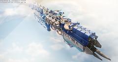 CLEARSKIES CORPORATION 'ATMOS' (Pierre E Fieschi) Tags: lego space micro microspace spacehip microscale microspacetopia sci fi scifi concept art moc pierre fieschi pierree recycling shiptember shiptember2018