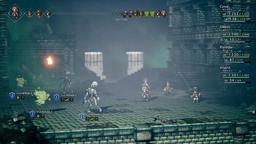 Octopath Traveler gameplay