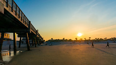 Sunset Jacksonville Beach (Harold Brown) Tags: architecture beach florida jax jacksonville jacksonvillebeach outdoor people sand seaside sky sonynex6 spring sunset travel usa bhagavideocom clouds fl haroldbrowncom harolddashbrowncom photosbhagavideocom pier haroldbrown