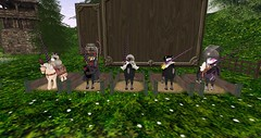 Raglan Shire Medieval Joust&Pageant - contestants (Bea Shamrock) Tags: sl secondlife raglanshire medieval joust horse
