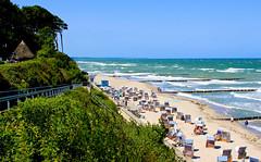 Strand von Nienhagen (Wolfgang.W. ) Tags: nienhagen ostsee mecklenburgvorpommern strand stranbad strandkörbe strandkorb sand wasser see sandstrand baltic sea