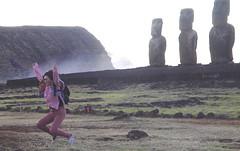 Flew For 16 hours To Get Dawn Selfie (stephenweir) Tags: selfie selfies easterisland moa statue dawnritual risingsun southpacific ritual moai
