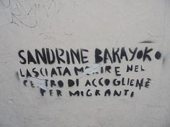 1083 (en-ri) Tags: sandrine bakayoko nero stencil spray antirazzismo firenze wall muro graffiti writing