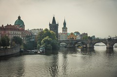 Charles Bridge (www.yabberdab.com) Tags: bridge prague vltava czech river city europe