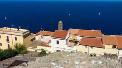 Castelsardo-Sardegna-Italy (johnfranky_t) Tags: castello doria castelsardo johnfranky t barche vele mare blu torretta telle tegole antenne finestre terrazze stretto di bonifacio