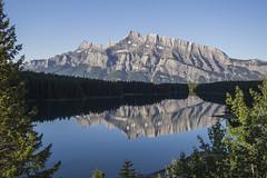 Mount Rundle reflected in Two Jack Lake (birgitmischewski) Tags: mountrundle twojacklake banff reflection
