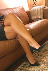 MyLeggyLady (MyLeggyLady) Tags: sex hotwife milf sexy feet cleavage toe secretary teasing cfm leather pumps stiletto legs heels