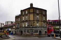 The Birds Nest, Deptford (London Less Travelled) Tags: uk unitedkingdom britain england london southlondon deptford lewisham pub birdsnest train railway dlr street urban