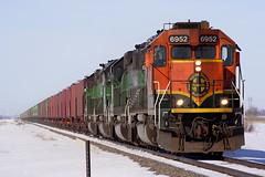 BNSF 6952 Grand Forks 18 Mar 06 (AK Ween) Tags: bnsf bnsf6952 emd sd402 grandforks northdakota devilslakesub train railroad