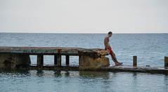 Tattooed Man at the Copacabana - Havana, Cuba (ChrisGoldNY) Tags: chrisgoldphoto chrisgoldny chrisgoldberg cuba cuban caribbean latinamerica licensing forsale cubano bookcover albumcover sony sonyimages sonya7rii sonyalpha havana habana lahavana lahabana sea water candid man tattoos swimmer copacabana caribbeansea hotels