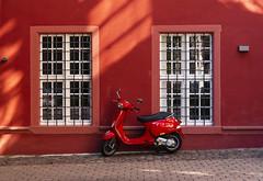 """Vespa"" (parker_shirazi) Tags: street freiburg germany vespa red"
