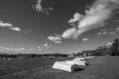 DSC01529 (Damir Govorcin Photography) Tags: canada bay sydney blackwhite monochrome wide angle boats sky clouds sony a7ii zeiss 1635mm natural light trees water