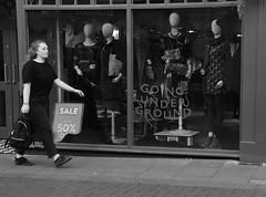 Going Underground (Bury Gardener) Tags: suffolk streetphotography street streetcandids snaps strangers candid candids people peoplewatching folks 2018 nikon nikond7200 england eastanglia uk blackandwhite bw monochrome mono abbeygatestreet