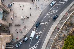 Directions (Jannis K) Tags: portugal street traffic strase verkehr car auto bulli bus angle vogelperspektive porto confusion city pfeil kurve curve signs