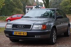1993 Audi 100 2.6 E Quattro (NielsdeWit) Tags: nielsdewit car vehicle audi 100 maarn quattro grey gxnr83 c4