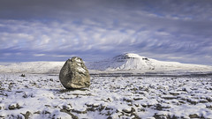 Scales moor-winter (Malajusted1) Tags: scales moor twistleton scar ingleborough mountain limestone ice age erratic boulder kelvinhelmholtz clouds rare snow artic north yorkshire national park ingleton dales sunset weather solitude insignificance motivation winter hill trail walking air nikon d810 gitzo lee filters dusk