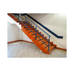 orange up (chrisinplymouth) Tags: steps staircase colour orange blue devon england uk city cw69x corner plymouth interior inexplore explored r069 diag diagonal xg