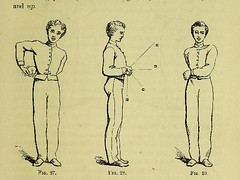 This image is taken from Page 61 of Watson's manual of calisthenics : a systematic drill-book without apparatus, for schools, families, and gymnasiums. With music to accompany the exercises ... (Medical Heritage Library, Inc.) Tags: calisthenics wellcomelibrary ukmhl medicalheritagelibrary europeanlibraries date1864 idb28078950