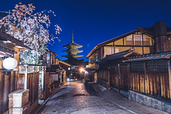 Yasaka Pagoda - Kyoto, Japan (inefekt69) Tags: japan kyoto 日本 京都 京 asia nikon d5500 night sannenzaka ninenzaka traditional edo sakura hanami flowers cherry blossoms spring nature さくら 桜 花見 building road higashiyama 東山 yasaka pagoda 三年坂 二年坂