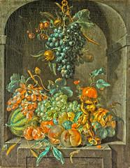 Still Life in an Alcove, variant (sjrankin) Tags: 24september2018 edited art painting rijksmuseum library museum fineart ska337 1721 coenraetroepel