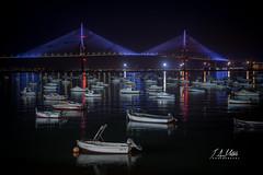 JAM04258 (JAM fotografia) Tags: cadiz puente nocturna barcos reflejos