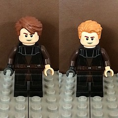 Anakin Skywalker post Geonosis, pre Battle of Christophsis (TheHighGround2187) Tags: star wars lego starwars starwarslego legostarwars minifigures jedi last awakens force han rey poe finn luke leia skywalker solo organa movies kenobi obiwan yoda blasters red helmets galaxy space rebels rebellion ghost crew team family mandalorian
