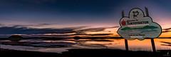 Welcome to Tuktoyaktuk (Chriskellyphotography) Tags: northwestterritories tuktoyaktuk pingo ibyuk split sunset landscape