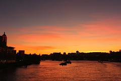 London Sunset (R.K.C. Photography) Tags: sunset london england riverthames unitedkingdom uk blackfriarsbridge sky evening orange red canoneos100d