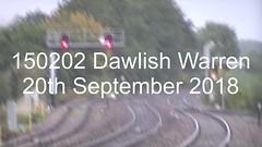 150202 Dawlish Warren 20th September 2018 (uktrainpics) Tags: 150202 class 150 diesel unit dawlish warren