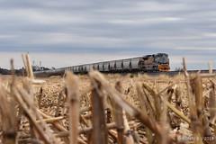 Heritage Field (R.G. Five) Tags: up union pacific 1989 geneva sun rio grande frac sand heritage train railroad