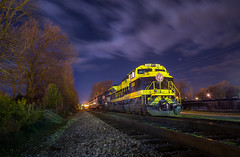 Tranquility in Greenville (WillJordanPhoto) Tags: virginian tennessee greenville moon night norfolksouthern railway trains transportation