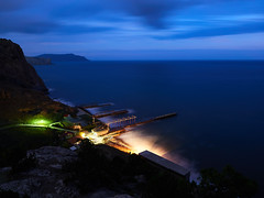 Ночь над бухтой в г. Судак (zaxarou77) Tags: night over bay sudak russia crimea nature color long olympus omd em1 markii em12 m12 micro zuiko pro mzuiko 1240 1240mm f28