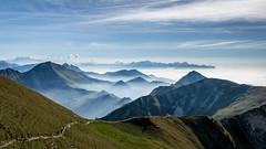 Suisse - Le Moleson (denis.fleurot) Tags: montmoleson suisse alpes montagne sommet nuages cielbleu verdure paysage sentier randonnée cantondefribourg chemin