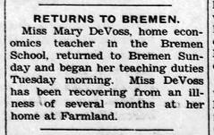 1956 - DeVoss - Enquirer - 29 Nov 1956