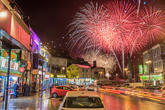 Fireworks Finale (Starman_1969) Tags: blackpool championships finale fireworks north pier pyrotechnics queenstown rain street wet world