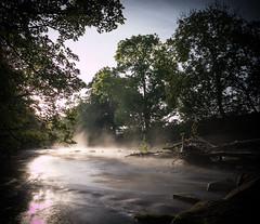 River mist (designfabric57) Tags: peakdistrict g7 lumix panasonic water frost fog mist sun river