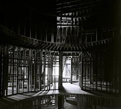 Inside 'The Igloo' (musubk) Tags: film analog black white large format view camera abandoned construction creepy