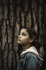 (Rebecca812) Tags: girl portrait tree bark brown forest canon people outdoors nature sideview beauty braid rebeccanelson rebecca812
