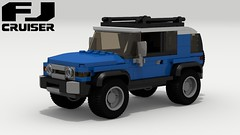 Toyota FJ Cruiser (new) (LegoGuyTom) Tags: toyota fj cruiser land classic vintage 2000s 2010s suv 4x4 4wd four wheel drive japanese japan offroad offroader off road roader lego legos ldd digital designer city car cars download dropbox pov povray lxf