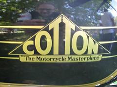 840 Cotton Motorcycles Badge - History (robertknight16) Tags: cotton british motorbike motorcycle bike badge badges automobilia himley