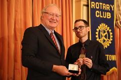 PRINCE EDWARD ISLAND/ÎLE-DU-PRINCE-ÉDOUARD: Award recipient/lauréat Alex Watts with/avec Premier/premier ministre Wade MacLauchlan