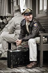 The Veteran (dscharen) Tags: veteran wwii wwiiveteran airman selectivecolor irm illinoisrailwaymuseum wwiireenactment anzioexpress northplattecanteen union illinois anzioexpressnorthplattecanteen reenactment reenactor