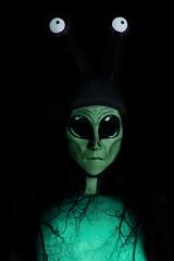 Day 4270 (evaxebra) Tags: halloween 33daysofhalloween 33days facepaint face paint alien green