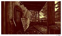 Elysion II (Loegan Magic) Tags: secondlife lumber wood ax tree door elysion henrydavidthoreau quote landscape