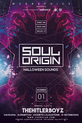 SOUL ORIGIN (movingclays) Tags: adobe artist beatport colorful dance dj dubstep edm electro festival flyer futuristic graphic guest house indie instagram itunes millennial model modern neon nightclub party psd rock sound speakers techno template halloween