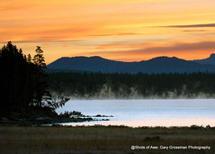 Dawn At Lake Yellowstone (Gary Grossman) Tags: sunrise yellowstone lake dawn fog landscape mountains rockies wyoming park nature garygrossmanphotography yellowstonenationalpark nationalpark landscapephotography lakeyellowstone