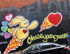 Chase Your Dreams by Adam Dare (wiredforlego) Tags: graffiti mural streetart urbanart aerosolart publicart manhattan eastvillage newyork nyc adamdare